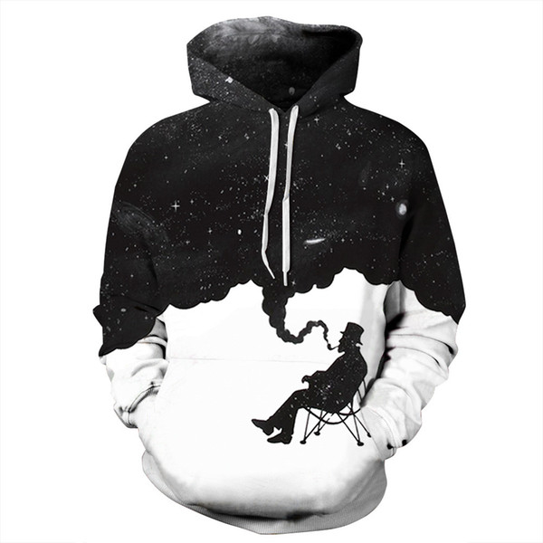 2018 Hot search Starry Sky sweat-shirts à capuche New Fashion 3D Hooded print homme Sweats à capuche