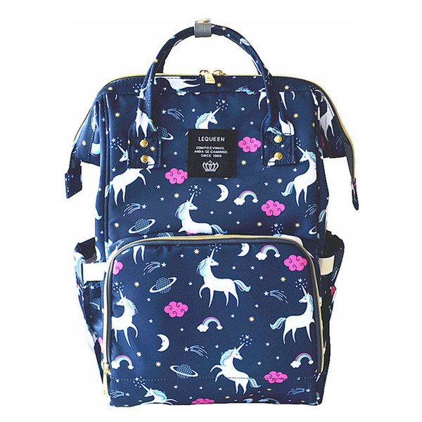 top popular 4 Colors Unicorn Mommy Backpacks Nappies Bags Unicorn Diaper Bags Backpack Maternity Large Capacity Outdoor Travel Bags CCA9269-A 5pcs 2021