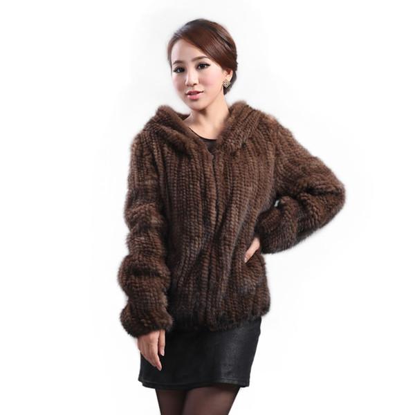 Yeni vizon kürk ceket kadın uzun kollu üst moda tüm maç Vizon örgü ceket vizon örme kürk Ücretsiz kargo S18101201