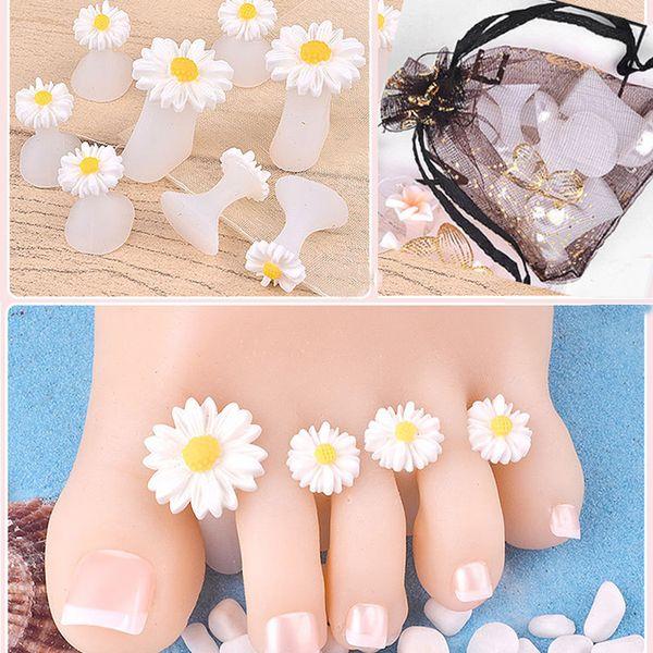Toe 8pcs Set silicone / separatore del manicure della barretta della punta del piede divisore Silicone Protector Nail Tips salone polacco Pedicure