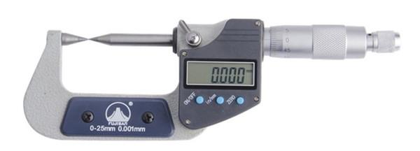 best selling Freeshipping Digital Micrometer 0-25mm 0.001mm 30 degree Pointed Head Micrometer Caliper Measuring Tool Gauge