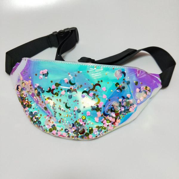 d214ebfd54b1 талии сумка 2018 новый фанни пакет Юниокс Летний пляж сумка женские сумочки  Лазерный кошелек Casual Прозрачный
