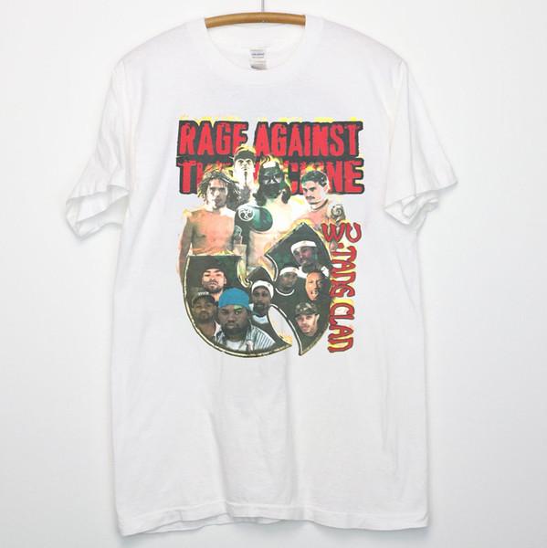 Vtg 1997 Rage Contre La Machine Wu-Tang Clan Hip Hop Années 90 T-Shirt Fabriqué USA Été 2018 100% Coton Odell Beckham Jr Jersey