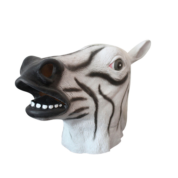 Latex Horse Head Full Overhead Mask Celebrate Halloween Creepy Party Accessories Funny Cosplay Costume Party Animal Masks