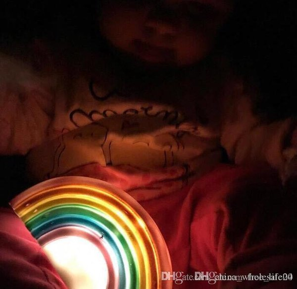 Free shipping Rainbow Night Light For Baby Room Decoration Night Lamps Plastic Novelty LED Indoor Lighting Smile Kids Christmas Gifts