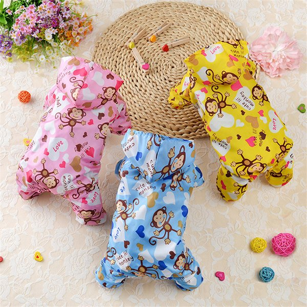 Waterproof Pet Dog Clothes for Small Dogs Puppy Rain Coat Jacket Hooded Clothing Dog Raincoat Chihuahua Yorkshire Pug Clothes