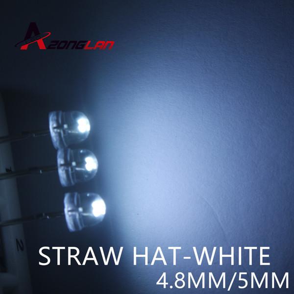 5mm straw hat LED 1000PCS/LOT lamp beads. White hair. Highlight big chip light-emitting diodes