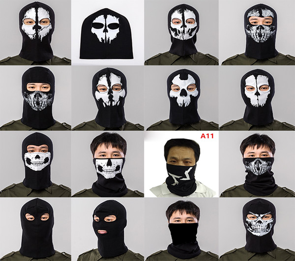 Hot Halloween Scary Mask Skeleton Ghost Masks full face Outdoor Paintball Ski Sport Motorcycle Bike Helmet Mask Neck Scarf cap Party prop