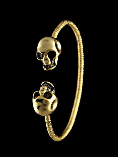 liruoxi1314 High Quality Celebrity design MQ bracelet Fashion show Classic style Bracelets Fashion metal Skull bracelet Jewelry With Box