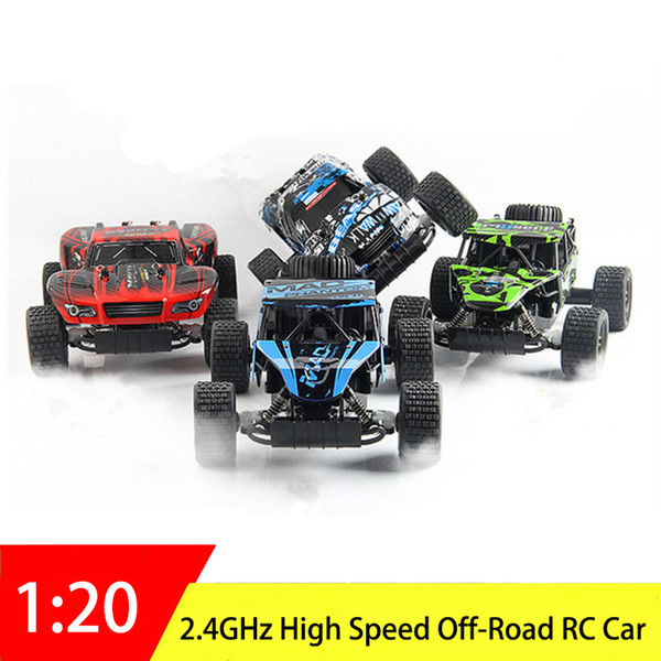 2.4GHz RC Car 1:20 Electric Remote Control Car High Speed Off-Road Driving Motors Vehicle Model Truck Toys Children Boys Gift