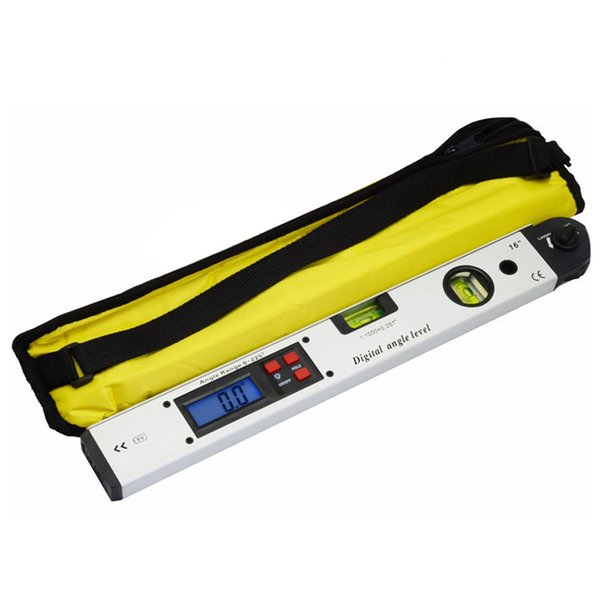 400mm/16inches Portable 0~225 Degree Professional Protractor Electronic Laser Spirit Level Digital LCD Display Angle Meter