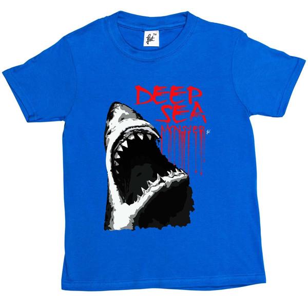 Глубокое Море Монстр Большая Белая Акула С Большими Зубами Дети Мальчики / Девочки Футболка