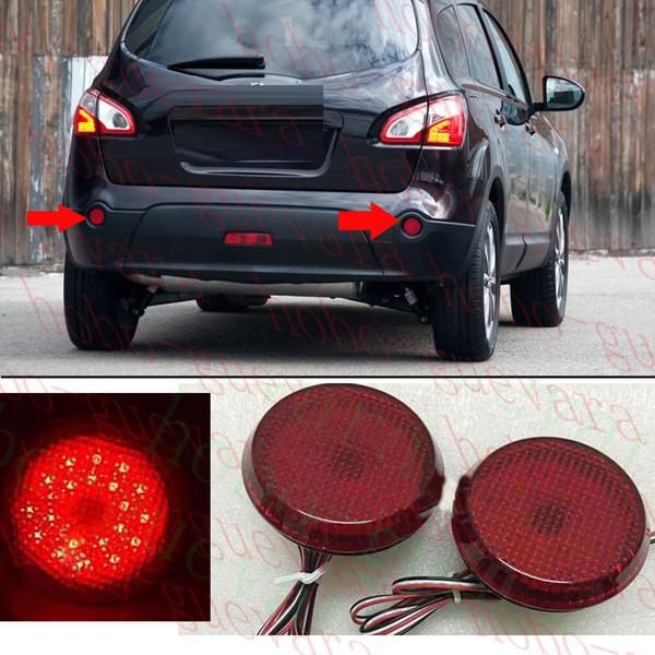 2 STÜCKE Für 2009-10 Nissan QASHQAI AUTO Auto Runde Heckstoßfänger Nebelscheinwerfer LED COVER REFIT diy