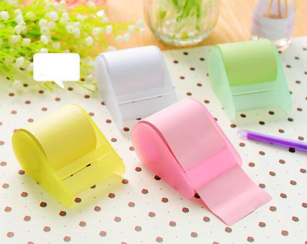 best selling 1 Set (1 piece holder and 3 rolls paper)Stationery Memo sticky note Creative notes Self Stick Notes Writing tape pads