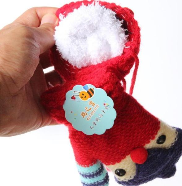 winter warm cartoon animal penguin mittens wool knitted thick fleece infant gloves kids ski sports glove festivale christmas gift