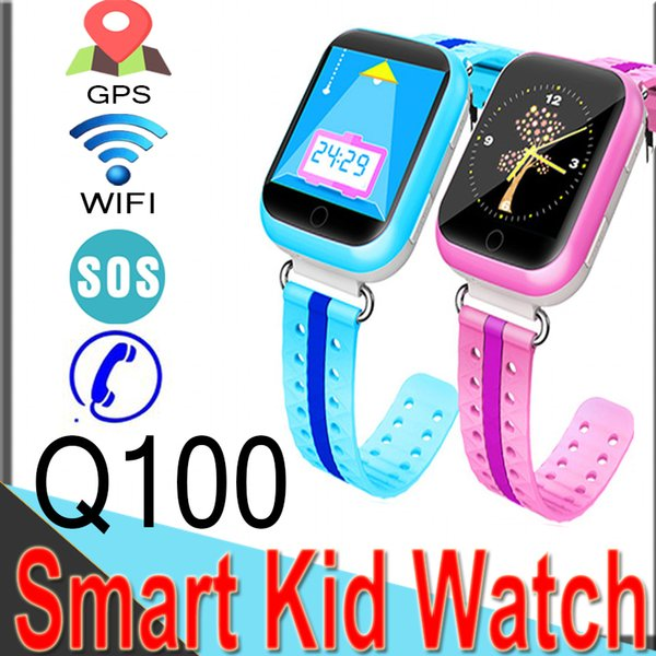 2018 GPS Smart Watches Q100 Baby Watch with WIFI 1.54inch Touch Screen SOS Call Location Monitor Pedometer for Kid Q7