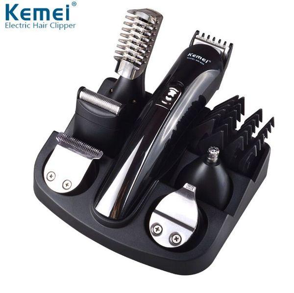 KEMEI KM-600 Profesyonel 6 1 Elektrikli Saç Düzeltici Saç Kesme Makineleri Şarj Edilebilir Tıraş Makinesi Tıraş Sakal Tıraş Makinesi