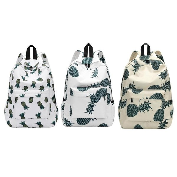 Pineapple Printing School Bags For Teenager Girls New Designer Backpack Women Casual Travel Bookbags Laptop Rucksack Hot