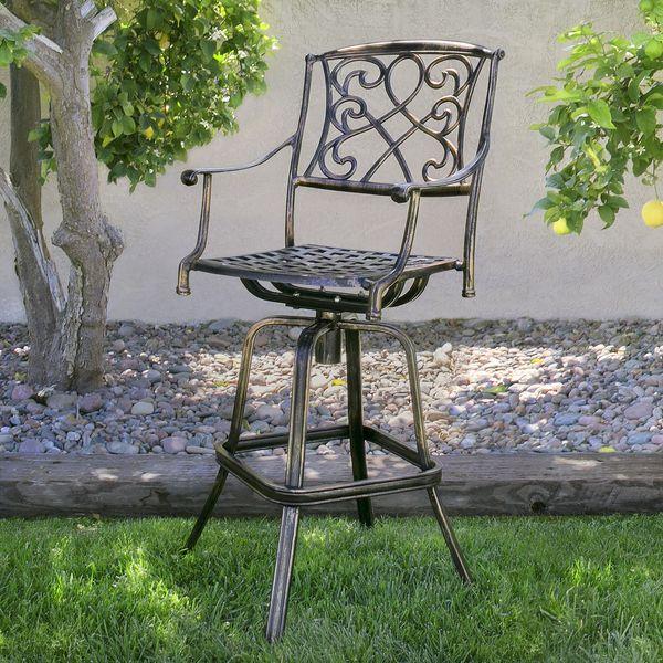 Prime 2019 Outdoor Cast Aluminum Swivel Bar Stool Patio Furniture Antique Copper Design From Hongxinlin21 132 66 Dhgate Com Squirreltailoven Fun Painted Chair Ideas Images Squirreltailovenorg