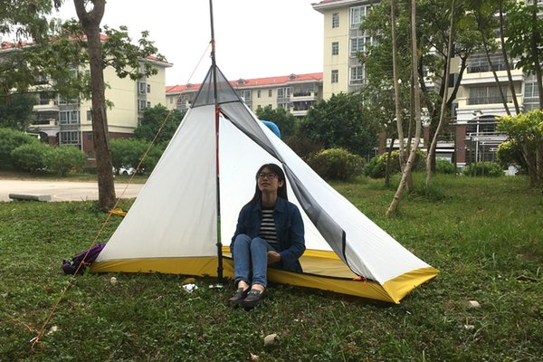 2019 New brand 4 season Camping Inner Tent Ultralight 1-2 Person Outdoor 40D Silicon Coating Pyramid Large inner Tent