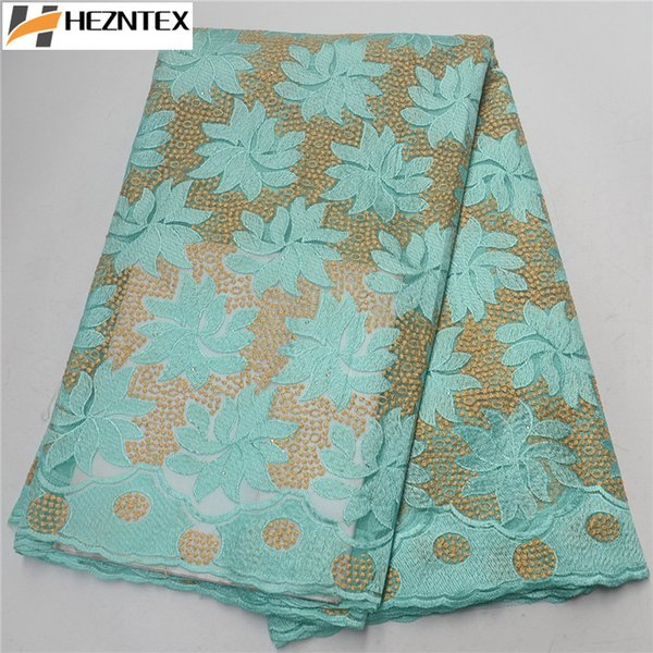 New Style African Lace Fabric With Stones Embroidery Nigeria French Tulle Lace Fabric Popular Mesh French Lace Fabric PSA368-1