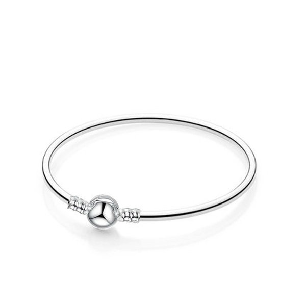 1pcs Bangle Bracelets with LOGO Fit Charm Beads for pandora Women Girl Christmas Birthday Gifts BR011