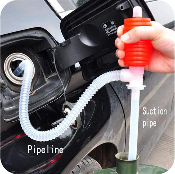 Portable Car Manual Hand Siphon Pump Hose Gas Oil Transfer Pump Plastic SP