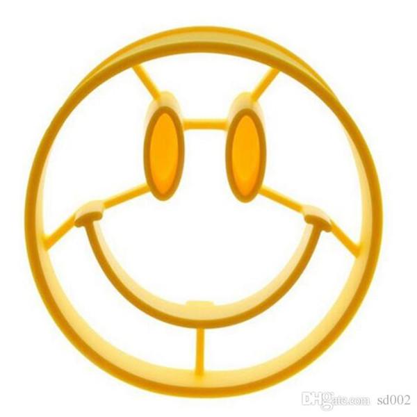 Silikon Pfannkuchen Formen Schöne Emoji Lächeln Gesicht Form Fry Ei Mold Resusable Für Home Küche Omelett Formen Tragbare 2 8xy cc