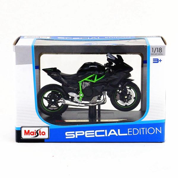 1:18 Alloy motorcycle model,high simulation metal Kawasaki Ninja KAWASAKI 2HR cross-country toys,free shipping