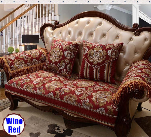 Sofa Protector Wine Red Chenille Color Sideli Luxury Sofa Throw Pad  Furniture Protector Sold By Piece Rather Than Set Non Slip Wing Chair  Covers Chair ...