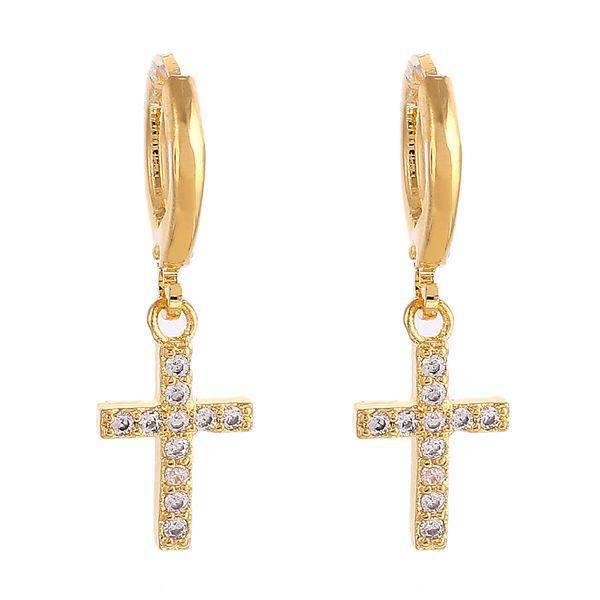best selling Cross Dangle Earrings Religious Jesus Stone Earrings Jewelry Crucifix Christian