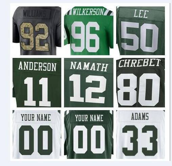 separation shoes 31f65 c8c69 2019 New York Jamal Adams Jets Jerseys Wayne Chrebet Leonard Williams Green  Anthracite Olive Salute To Service American Football Jersey Cheap Xxx From  ...