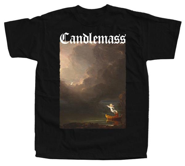 CANDLEMASS Nightfall Álbum Capa T-Shirt (Preto, garrafa verde) S-5XL Custom Made Boa Qualidade T shirt top tee Novos Homens Da Moda