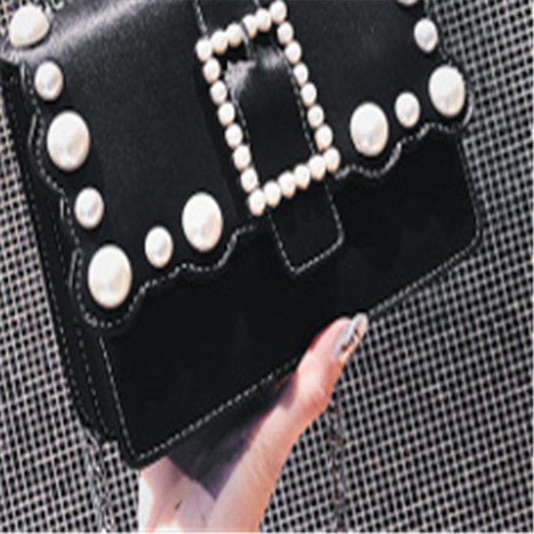 011 Han Guodong New Door Style New Wave Bag Pearl Small Square Bag Fashion Trend, Single Shoulder Shoulder Bag Ins Super Fire Girl