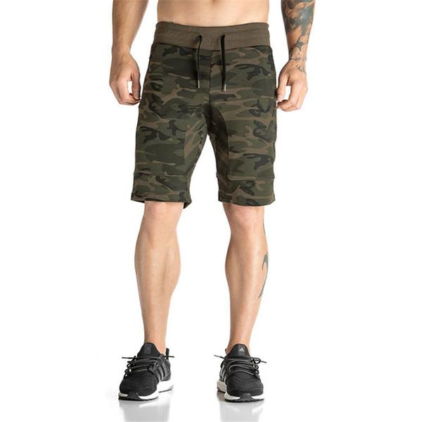 2018 dos homens da marca camuflagem calções casuais gyms sporting camo respirável confortável shorts homme musculação bermuda masculina