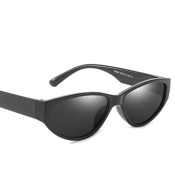 MINCL / 2018 Heißer Verkauf Kleine Schicke Katze Sonnenbrille Hip Hop Mode Kühlen Sonnenbrille Dreieck Rot Gelb Objektiv Sonnenbrille-
