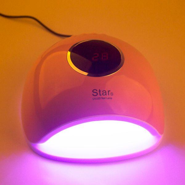 72W UV Lámpara LED Lámpara de Uñas de Gel Secador de Uñas Para Uñas Todo Sensor de Esmalte de Gel Sun Led Light Nail Art Manicura Herramientas