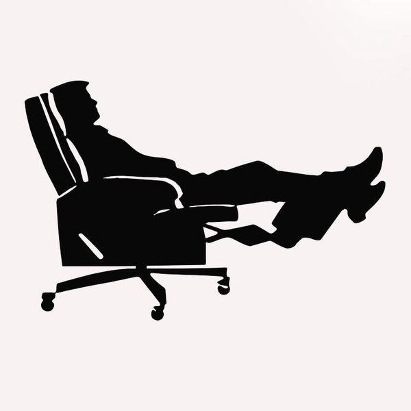 HotMeiNi Wholesale 20pcs/lot Easy Chair Relaxing Funny Car Sticker For Truck Window Bumper Door Kayak Vinyl Decal 8 Colors