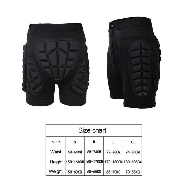 Sports Gear Short Protective Hip Butt Pad Ski Skate Skateboard Snowboard Protection Drop Resistance Roller Padded Shorts S-XL