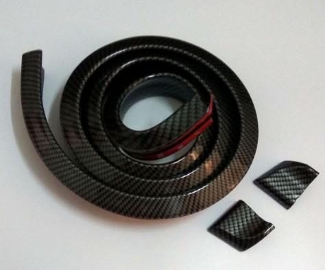 Alerón trasero de caucho suave universal negro 40mmx1.5m Alerón trasero exterior Kit universal para alta calidad de la mayoría de los coches