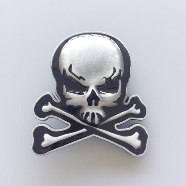 New Skull With Bones Vintage Belt Buckle Gurtelschnalle Boucle de ceinture