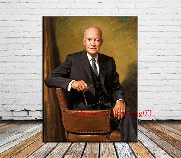 Dwight D. Eisenhower-1, Tuval Adet Ev Dekorasyonu HD Baskılı Modern Sanat Tuval Üzerine Boyama (Çerçevesiz / Çerçeveli)