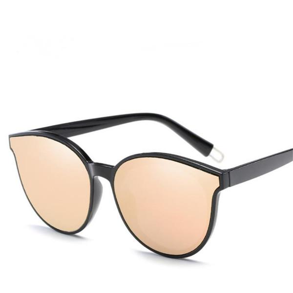 Korean Women & Men Personality Sunglasses Big Frame Sunglasses Color Film Eyeglasses Anti-UV Spectacles Couple Sun Glasses