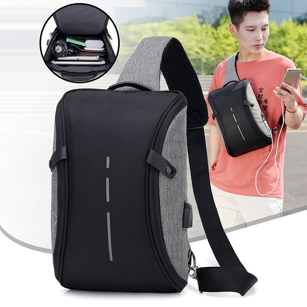 New Arrival Crossbody Bags Men Anti-theft Chest Pack Summer Short Trip Messengers Bag Water Repellent Shoulder Bag Outdoor Bags