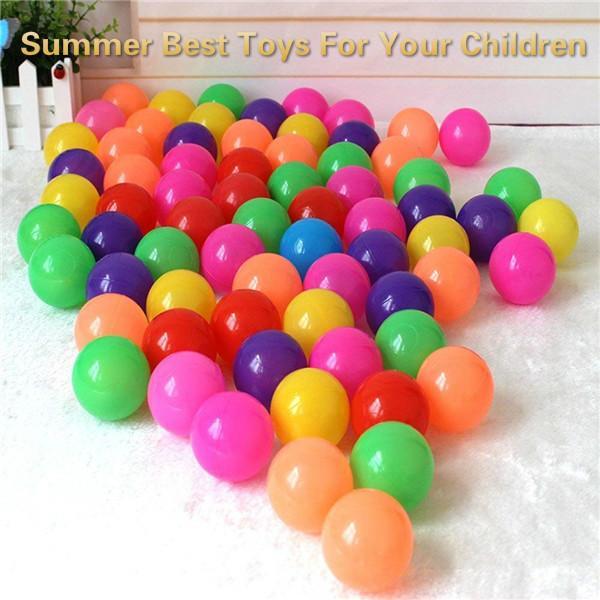 100 Stücke Bunte Ozean Bälle Spaß Pit Ball Weichplastik Bälle Kindspielzeug Schwimmen Pit Spielzeug (durchmesser: 2,17 zoll) Sommer Beste Spielzeug Für Ihre Kinder