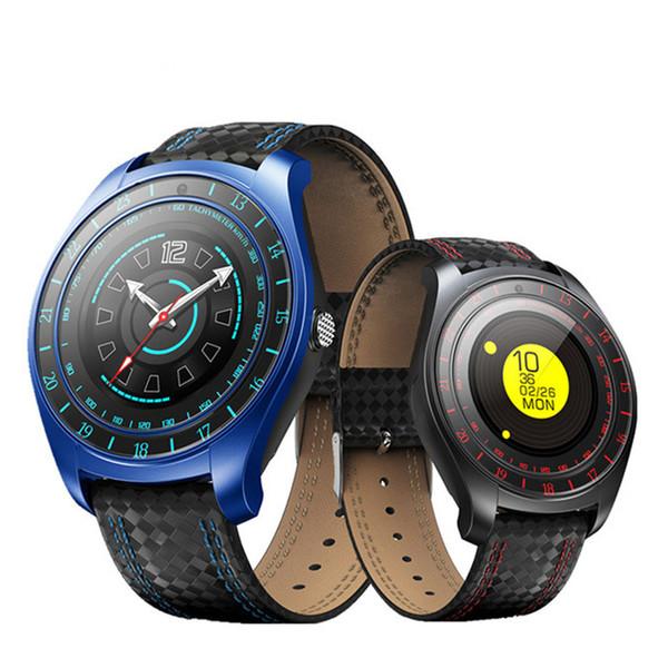 V10 Akıllı İzle Kamera ile Erkekler Bluetooth Smartwatch Adımsayar Nabız apple iphone Android Telefon için Sim Kart Kol Saati