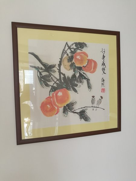 Hand Painted Chinese painting- home decoration-persimmon with frame