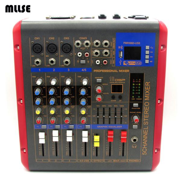 500 Watt Powered Audio 5 Kanal DJ Mixer Verstärker PMR506 Mezcladora De DJ Für Mikrofon