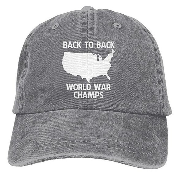 Voltar-to-Back World War Champs Snapback Cotton Hat Multi-color opcional