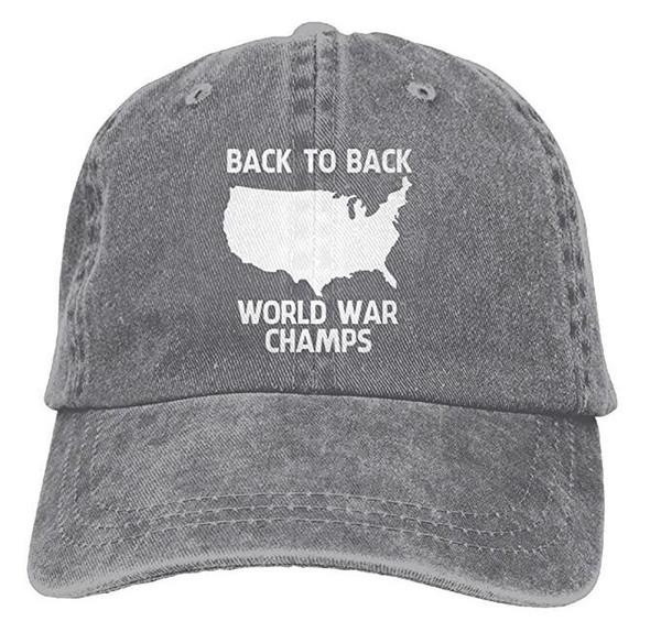 Back-to-Back-Weltkrieg-Champions Snapback Cotton Hat Multi-Color optional